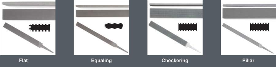 10 in Length Flat Shape American Pattern File Single Cut