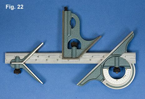 Combination Square Scribing With Protractor Another Measuring Device