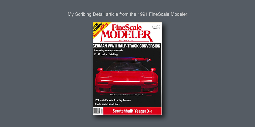 Scribed Detail for Scale Modelers | Paul Budzik